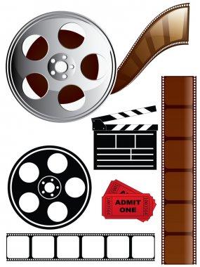 Film, movie, theater icons