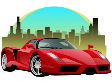 Exotic Red Sports Car