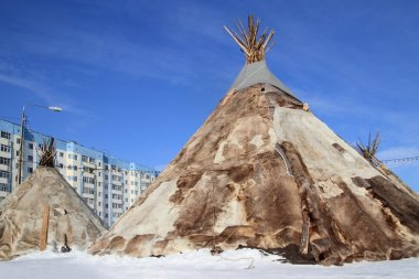 Dwelling of northern peoples of Siberia