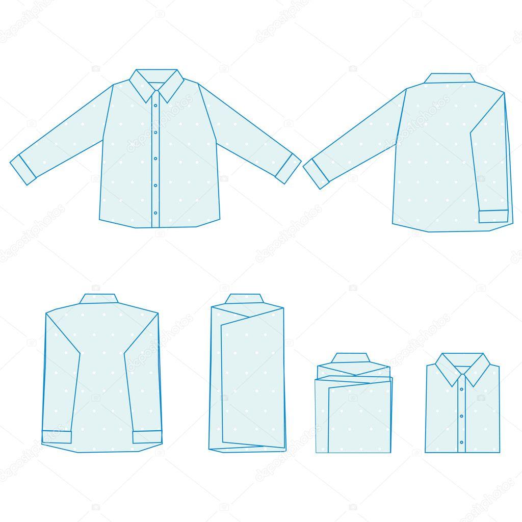 Comment plier une chemise image vectorielle korobovaok - Comment plier un t shirt ...