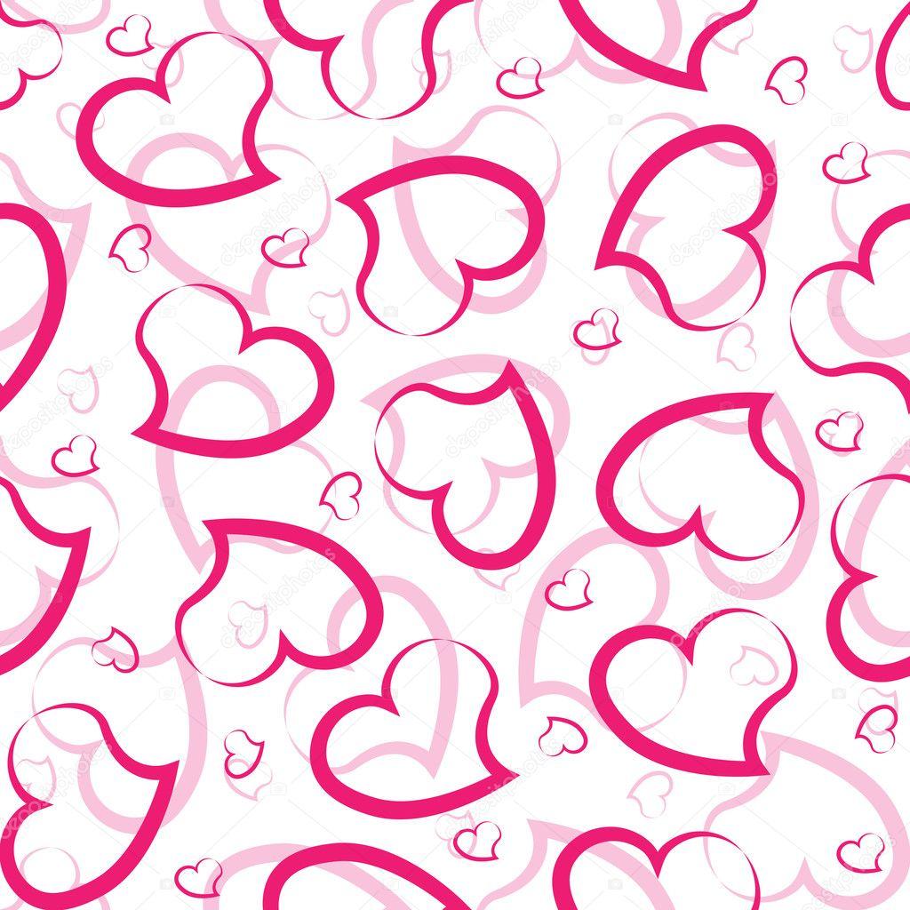 patrones sin fisuras del corazón — Vector de stock © Korobovaok #9787392