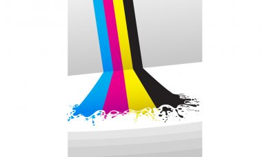 CMYK Color Waterfall
