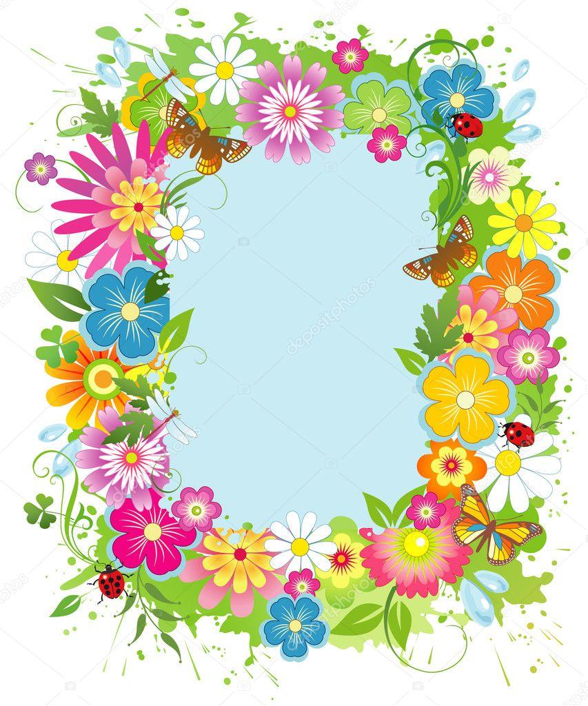 marco de verano — Vector de stock © Sayanna #8582260