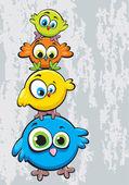 Fotografie Family of birds