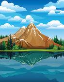 Fotografie Vector landscape