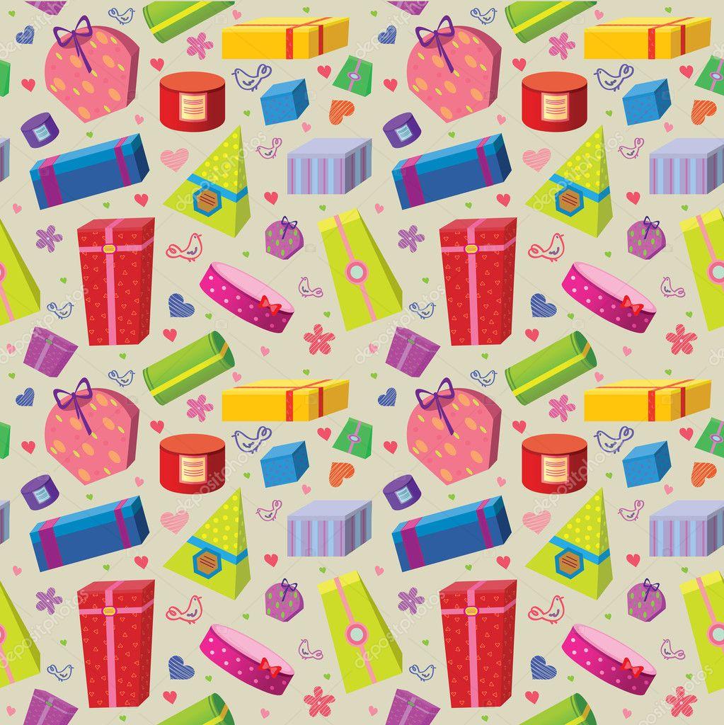 Wallpapers de regalos colored gifts wallpaper stock vector for Pc in regalo gratis