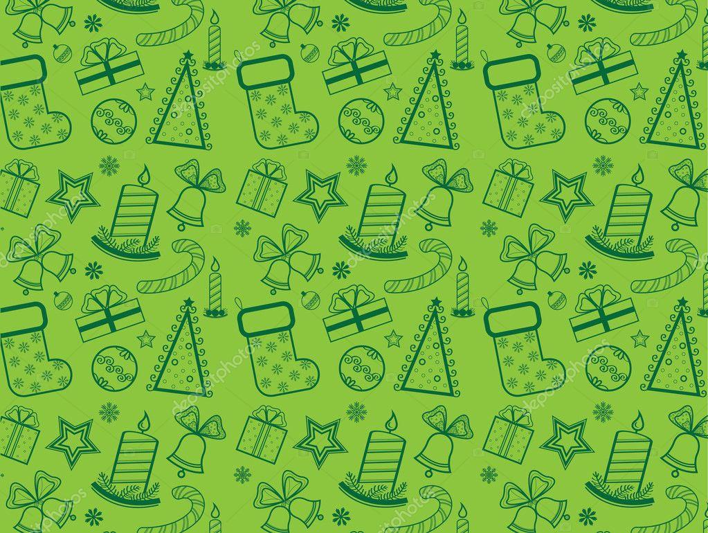 Papier Peint Vert Noel Image Vectorielle Natuska C 8560520