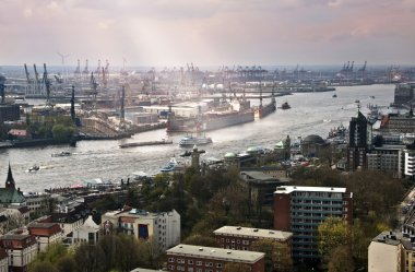Port on the Elbe, Hamburg