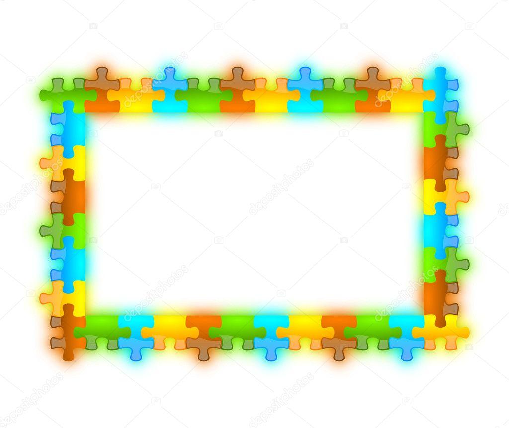 rompecabezas de color, brillante, brillante y jazzy marco de 12 x 8 ...