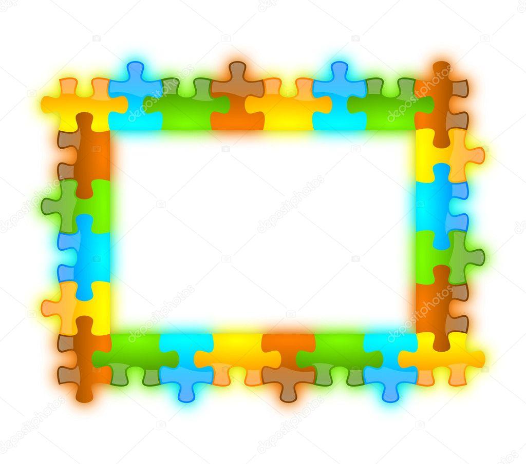 color, brillante, brillante y jazzy puzzle marco 6 x 8 — Fotos de ...