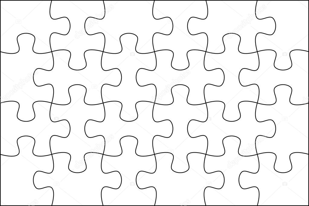 Puzzle Hintergrund Vorlage 6 x 4 — Stockfoto © mrgao #10252431