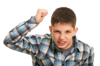 Disgusting boy in street fighting