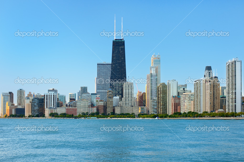 View of Chicago in the morning