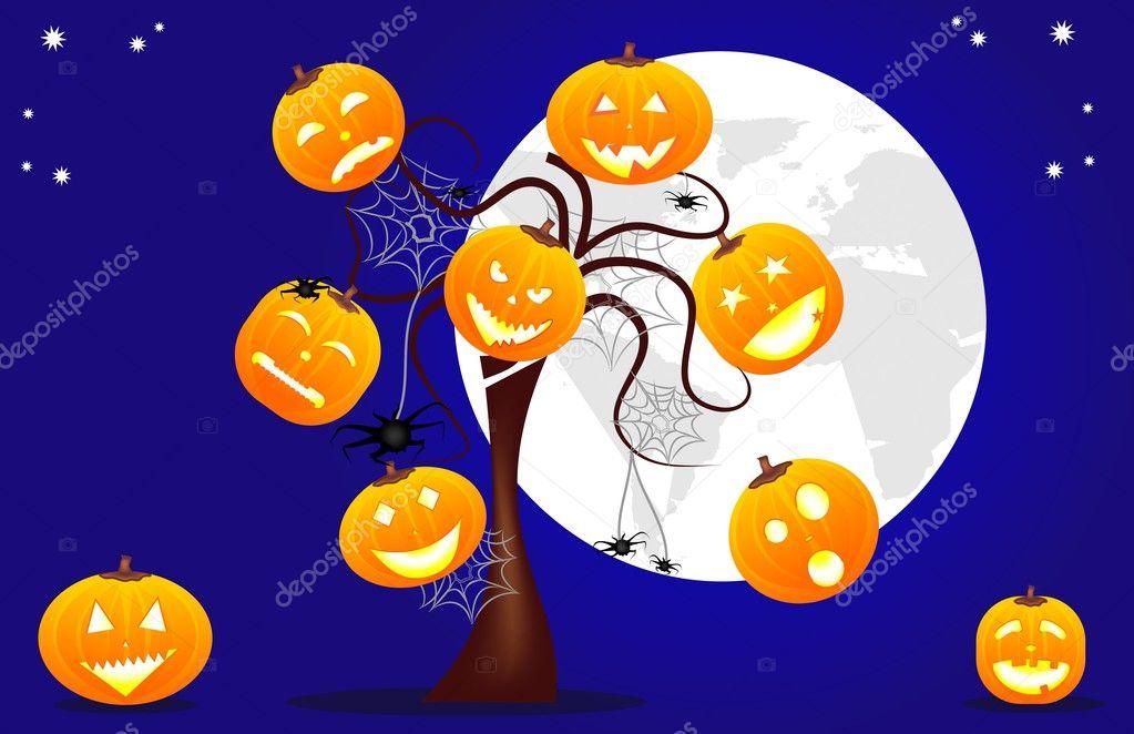 funny halloween background stock vector letyg84 8197930