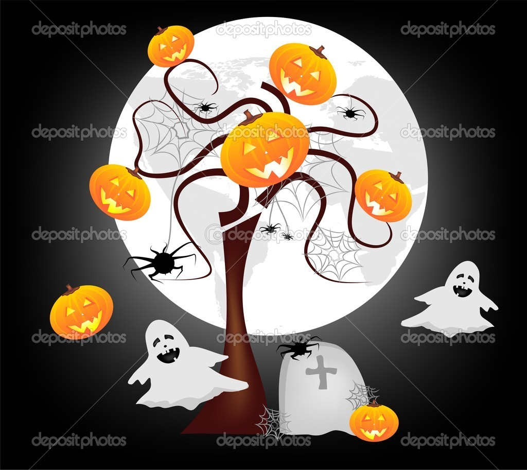 funny halloween background stock vector letyg84 8198072