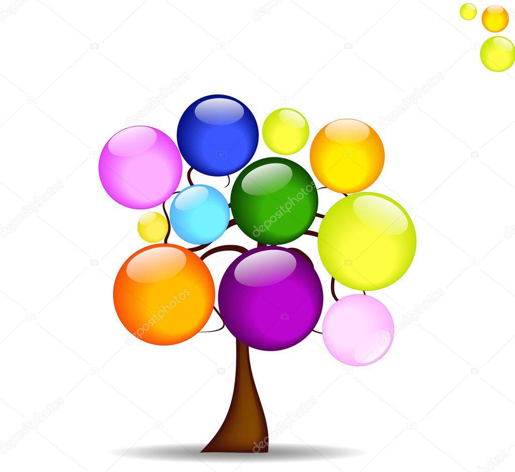 Воздушный шарик для открытки 387