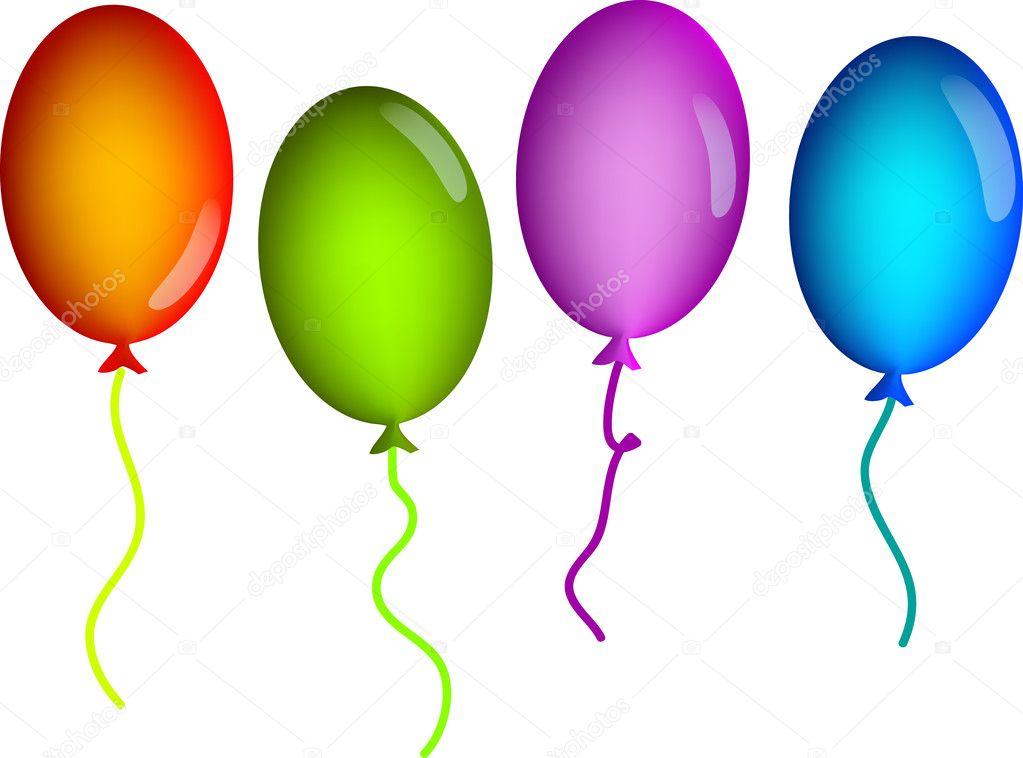 Sfondo con palloncini colorati vettoriali stock - Immagine con palloncini ...