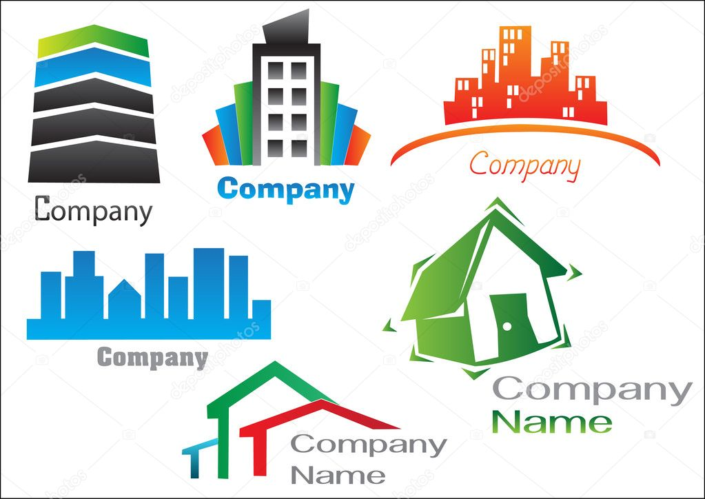 Real Estate Logo Samples — Stock Vector © karlos1991 #10445893
