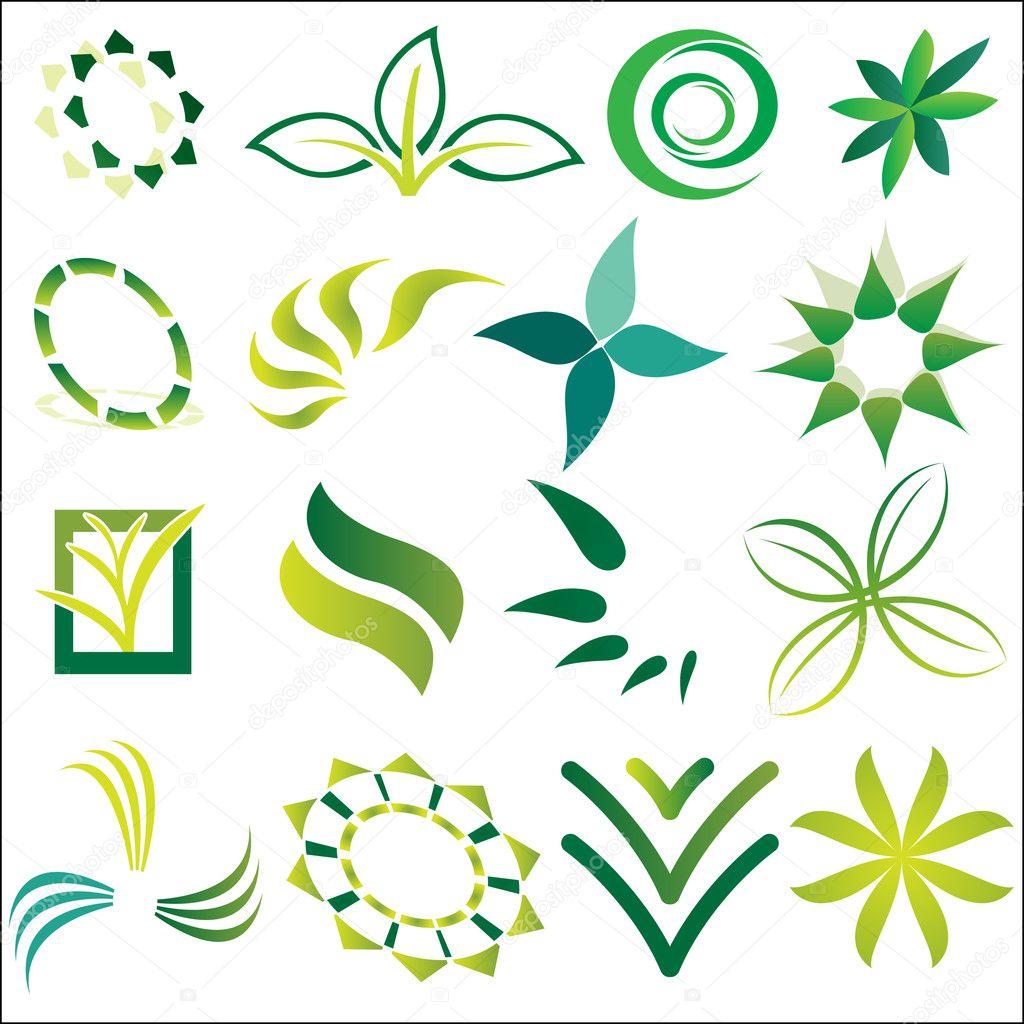 Green Ecological Logos
