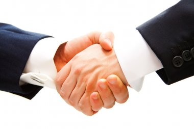 Handshake of business partner