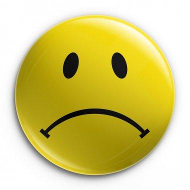 Badge - Sad Smiley