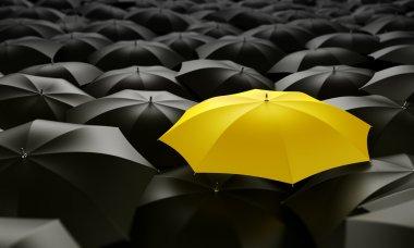 """Картина, постер, плакат, фотообои """"желтый зонтик """", артикул 8282057"""
