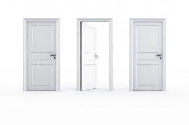 2 closed door 1 open
