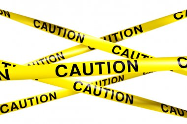 3d rendering of CAUTION tape. stock vector