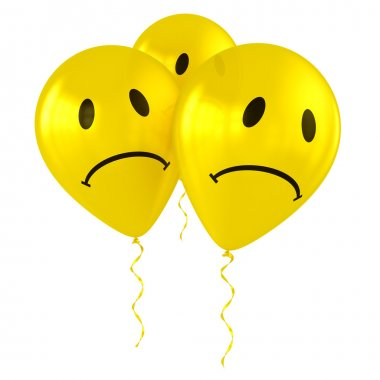 Balloons with smiley faces