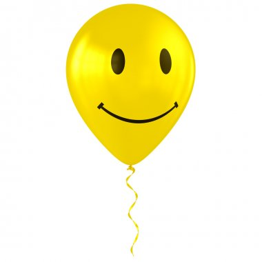 Balloon with happy smiley faces