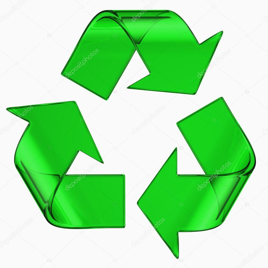 Recycle Symbol In Green Glass Stock Photo Zentilia 8281759