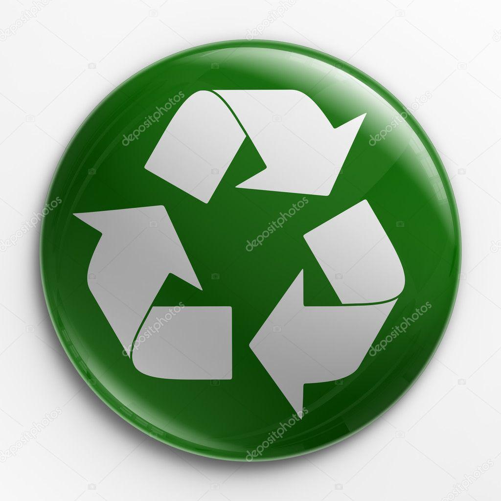 Badge - recycle logo — Stock Photo © zentilia #8281968