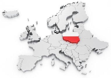 Poland on a Euro map