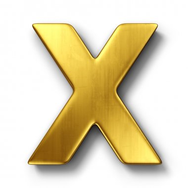 The letter X in gold