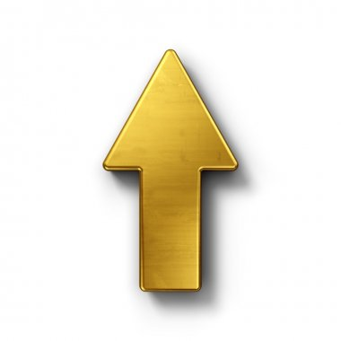 Arrow pointing up in gold