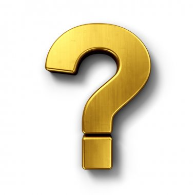 Question mark sign in gold