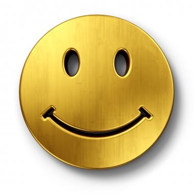 Smiley face in gold