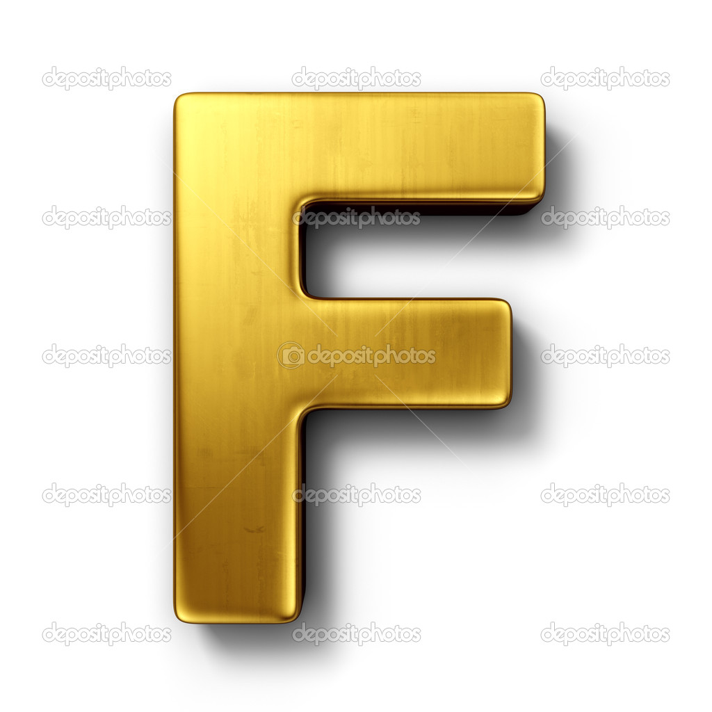 The letter F in gold — Stock © zentilia