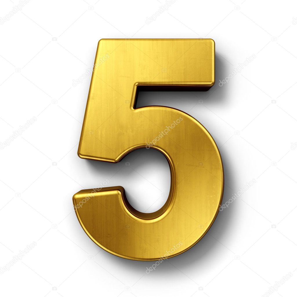the number 5 in gold  u2014 stock photo  u00a9 zentilia  8292996