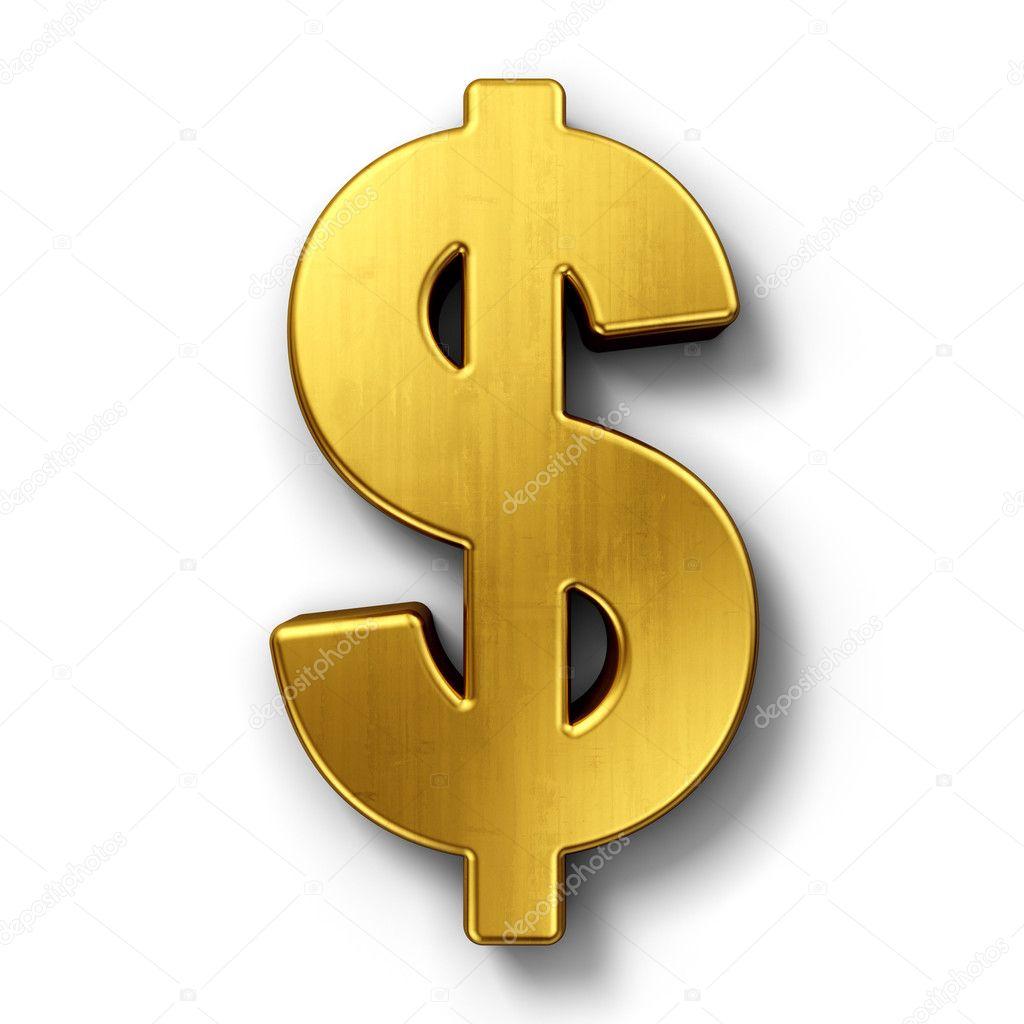 Dollar sign in gold