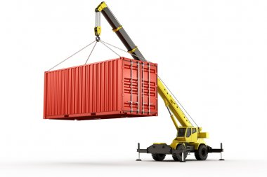 3d rendering of a shipping container stock vector