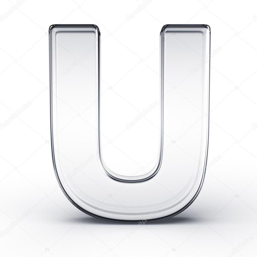 The letter U in glass — Stock © zentilia