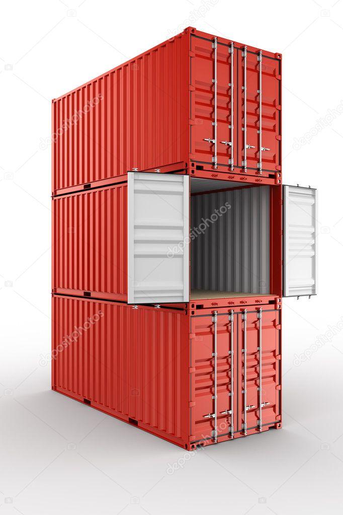 conteneur d 39 exp dition empil es photographie zentilia 8318617. Black Bedroom Furniture Sets. Home Design Ideas