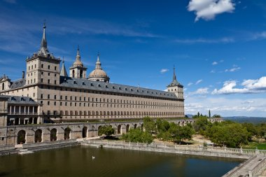 San Lorenzo de El Escorial Monastery , Spain on a Sunny Day