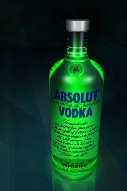 3D Model Absolut Vodka Bottle