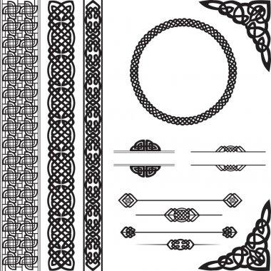 Decorative ornament in Celtic style