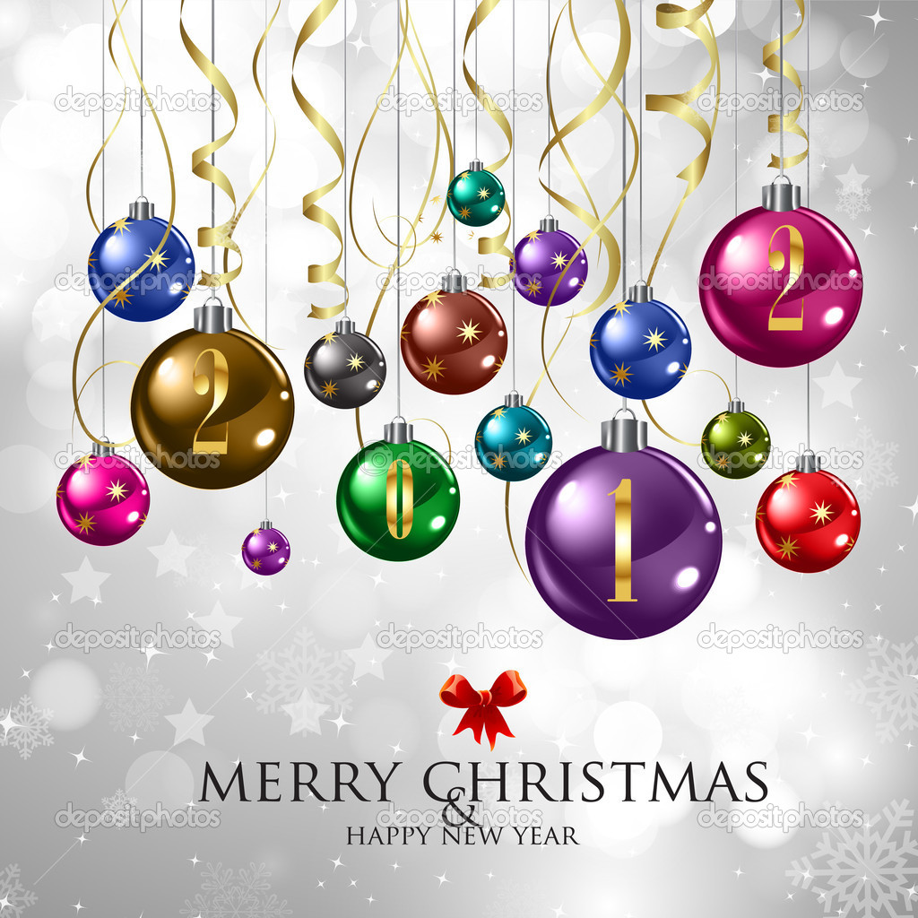 Merry Christmas & Happy New Year — Stock Vector © kelvinlung #8200739