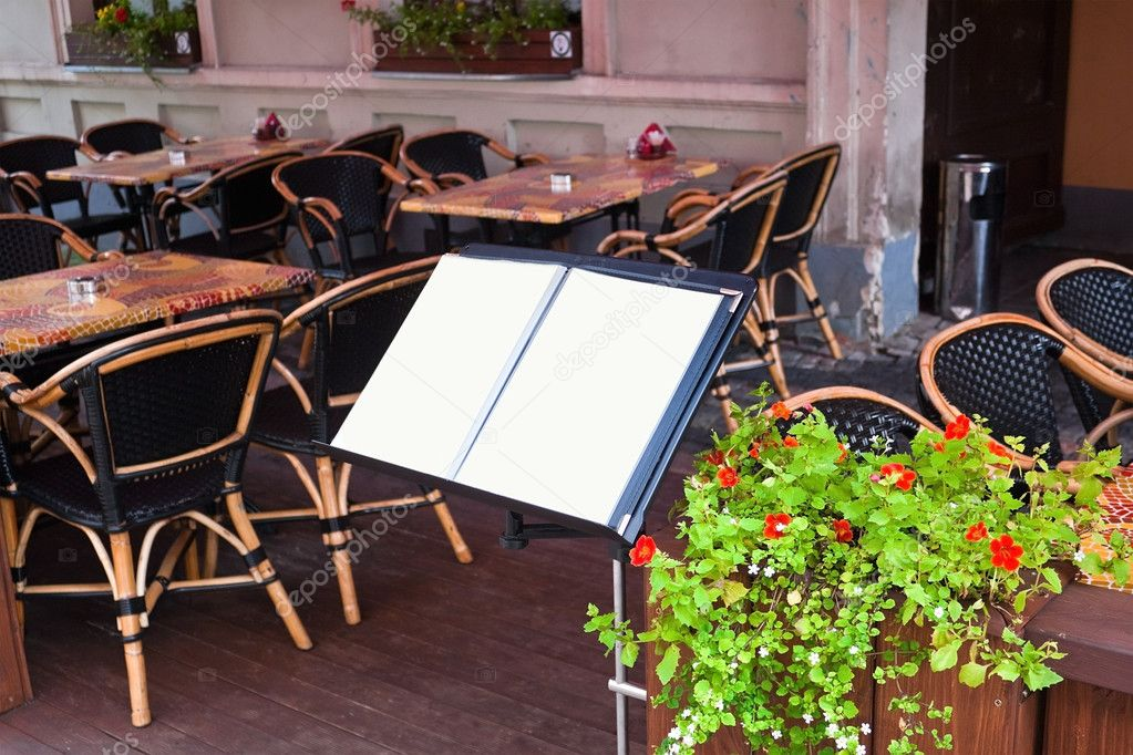 Menu in restaurant