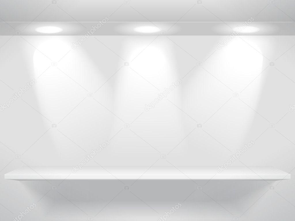 Boekenplank Met Verlichting.Boekenplank Met Verlichting Stockvector C Mexrix 9554397