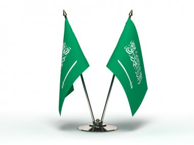 Miniature Flag of Saudi Arabia (Isolated)
